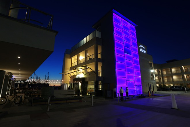 Shade Hotel Redondo Beach Exterior View at Night
