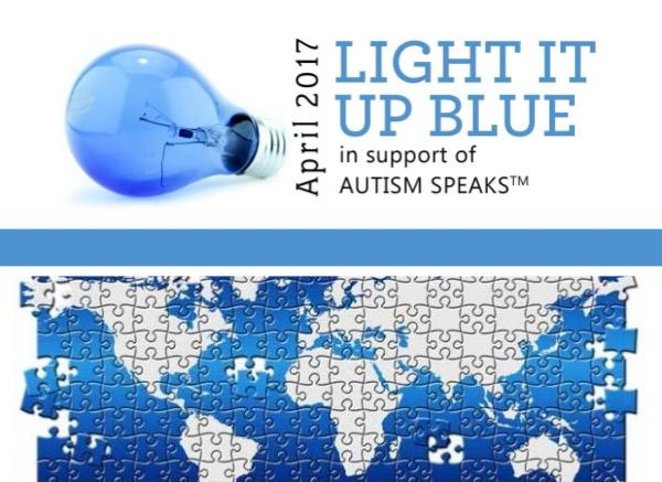 Light it up blue event at Ambrose Hotel