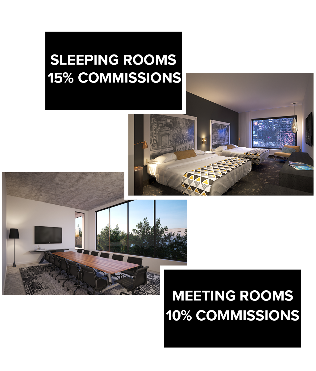 Jupiter NEXT increased hotel and meeting room commissions