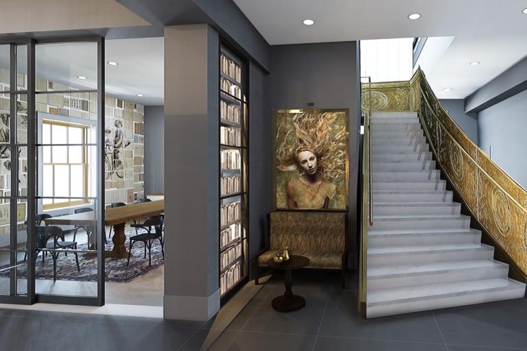 Angad Arts Hotel Library