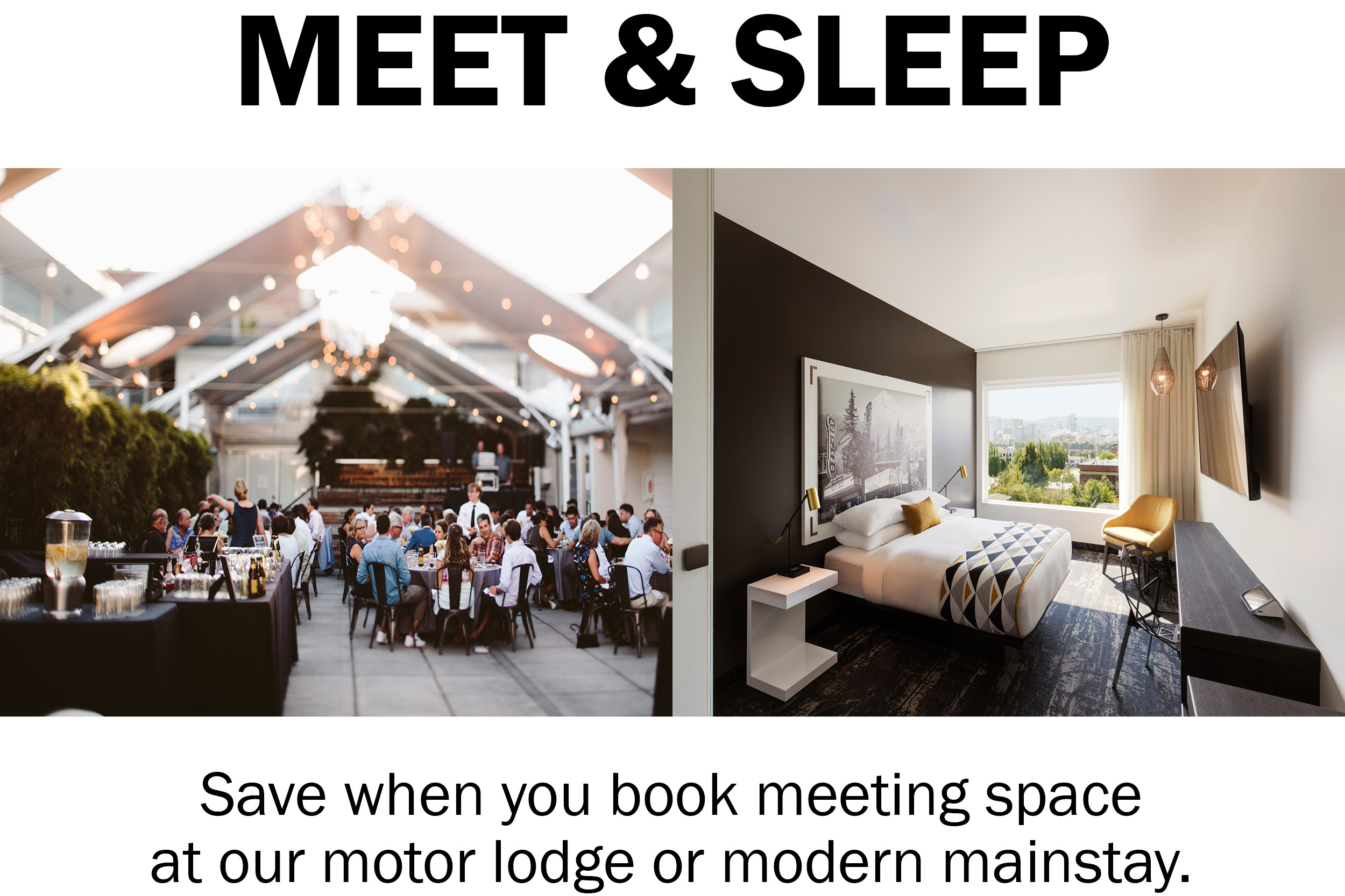 Jupiter Meet & Sleep Promo Banner