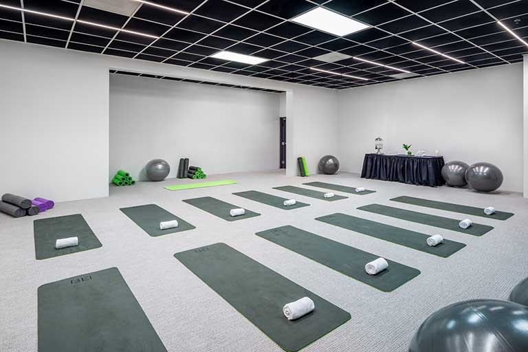 Recreation Yoga space at BEI Hotel San Francisco